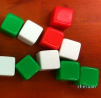 Mini 6-сторонние пустые кости 12 мм квадратные углы светлые доски цветные кубики веселые образовательные игрушки могут написать небольшой подарок сувенирные украшения # B18