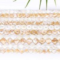 Gruppo di lumaca naturale a ferro di cavallo perline perline monili per la creazione di accessori fai da te stella cuore a quattro foglie trifoglio perline per bracciale