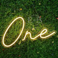 Other Lighting Bulbs & Tubes One Neon Sign Baby Shower Gender Reveal Custom Party Flex Led Text Light