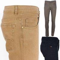 Erkek Kot Erkekler Streç Skinny Elastik Bel Moda Rahat Slim Fit Denim Pantolon Erkek Gri Haki Pantolon Türkiye Varetta