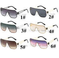공장 가격 새로운 사각형 선글라스 여성 큰 프레임 안경 금속 장식 패션 숙 녀 태양 안경 UV400 6 색 10pcs 빠른 배