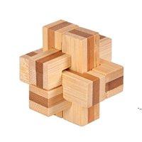IQ الدماغ دعابة كونغ مينغ قفل 3d خشبية المتشابكة لدغ الألغاز لعبة لعبة للبالغين أطفال DHD5397