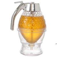 짜기 병 꿀 꿀 항아리 컨테이너 홈 주방 도구 꿀벌 Drip 디스펜서 주전자 저장 냄비 스탠드 홀더 주스 시럽 컵 DWA6382