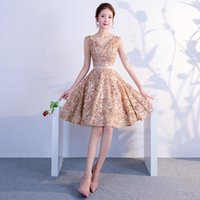 Ethnic Clothing Sexy V-Neck Embroidery Applique Short Style Bridesmaid Evening Dress Cheongsam Back Zipper Prom Fomail Gown Vestidos De Noch