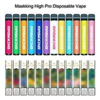 Maskking High Pro-Einweg-Vape-Stift E-Zigarettenstarter-Kit GT Max-Pod-Gerät 600mAh 3,5ml Vorgefüllte Kartuschen elektronische Dämpfe
