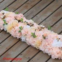 새로운 도착 우아한 인공 꽃 행 결혼식 센터 피스 도로 인용 꽃 테이블 러너 장식 공급품 ZZF8833