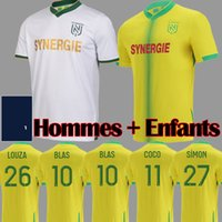 21 22 FC Nantes Soccer Jerseys تايلاند Home Mailleot De Foot 2021 2022 بعيدا أبيض جيرسي سيمون Louza A Toure Blas Coco Couleibaly كرة القدم قمصان قمصان