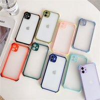 Шкафы замороженные прозрачные подушки безопасности ударопрочный телефон для iPhone 12 Pro 7 8 плюс 11 PROMAX XR XS MAX CASE Soft TPU Matte