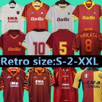 1996 1997 1998 1999 2000 Roma Ретро Футбол Джерси 1992 1994 Totti Nakata Batistuta Candela Montella Balbo 91 92 94 Rome Maglia Da Calcio