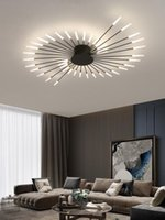 Ceiling Lights Modern And Simple Led Chandelier Creative Living Room Personality Model Black Gold Nordic Shopping Mall Home Atmosphere