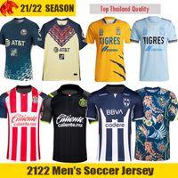 Liga MX 21 22 Tigres UANL Camisa de futebol F. THAUVIN GIGNAC 2021 Club America GIOVANI HENRY Camisa de futebol Monterrey R. FUNES MORI Duvan Jersey Chivas Camisa de futebol