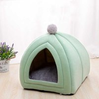 Cat Beds & Furniture Portable Design House With A Hole Warm Soft Pet Tent Removable Washable Cats Nest Litter Puppy Kennel