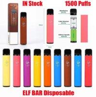 엘프 바 1500 퍼프 전자 담배 일회용 포드 장치 1500puffs 850mAh Battey 4.8ml 포드 프리 빌딩 카트리지 vapes 키트 처분 할 수있는 담배 2 % ni 강도 대 퍼프 흐름