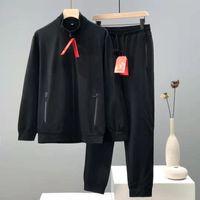 20ss Mens Tacksuit Sweatsuit Traje Traje Moda Mens Joggers Trajes Conjunto Bordado Ancilado Dobby 100% Algodón Mens Design Sudaderas con capucha