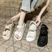 Sandals Trends Summer Flat British Wind Embroidery Thick-soled Casual Roman Fragrance Designer Shoes