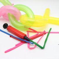 24 Hours Shipping!! Balloon Pump Hand Push Mini Plastic Inflator Air Portable Useful Foil Balloon Decoration Tools gyq HWD8326