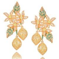Dangle & Chandelier GODKI 2021 Charms Trendy Women Long Tassel Drops Earrings Cubic Zircon Drop Earring For Wedding Party Accessories