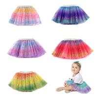 توتو التنانير نجوم المطبوعة الأميرة pettiskirts rainbow الفتيات الباليه الرقص تنورة شبكة البسيطة فساتين حزب الاطفال ملابس 5 تصاميم ZYY707