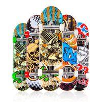 Hildren Toys Animation Соседняя модель Палец Совет грузовик Мини Сплав ABS Скейтборд Играть Игрушки Скейтборды Палец C034 222 U2