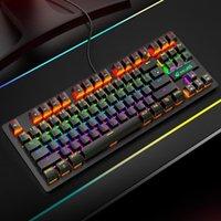 Keyboards K2 87 Tasten Universal Wired RGB Hintergrundbeleuchtung Mechanische Tastatur Computerzubehör AC