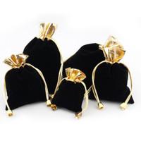 7cm * 9 cm de veludo cordão bolsa bolsa de casamento presente jewlery pano embalagem sacos para festa, festival, maquiagem pode personalizar logotipo