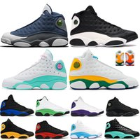 Zapatillas de baloncesto Hyper-Royal para mujer para mujer 13 13s Aurora Green Flint Lucky Green Court Purple Men Shoes Sneakers Trainers 5.5-13