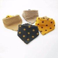 Grand Bébé Babots Coton Newborn Bib Dots Star Baby Burp Tissures Burping Chiffres Chevaux Tenue bébé Enfants Bib Baby Accessoires 0-5Y B4065