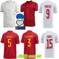 2021 España Rodrigo Pedri Ferran Koke Sarabia 20 21 İspanya Futbol Jersey Morata Ramos Thiago Gaya Man Kiti Futbol Gömlek Camisetas de Futbol Espana