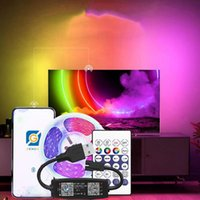 Strips 5V USB Bluetooth-compatible Control Addressable RGB WS2812B Led Strip Light For Room TV Backlight Kitch Indoor Atmosphere