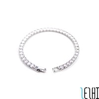 Charm Chain Classic Fashion Love Wedding Bracelets For Men Tennis Snap Iced Out Link Chains Silver Bracelet Personalized Bridal Jewelry Wholesale 11g 2 Colors