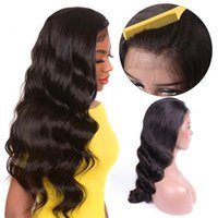 Pre Plucked Full Lace Human Hair Wig With Baby Hair Brazilian Body Wave Full Lace Wig Wet And Wavy Wigs Glueless Black For Women