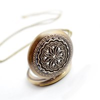 wholesale 100pcs lot Bronze classic Flower Pocket watch vintage pocket watch Men Women antique models Tuo table watch PW162