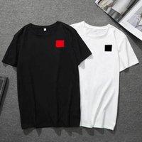 Erkek T Gömlek Moda Kırmızı Kalp T Gömlek Baskı Erkek Kuaför Kısa Kollu Siyah Beyaz Yüksek Kalite T Gömlek