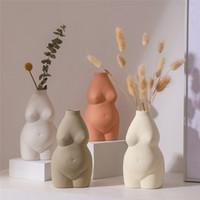 Reçine Vazolar Vücut Sanatı Seramik Ev Masa Dekorasyon Bitkiler Saksı Vazo Ekici Vazo Masa Dekor Ev Dekorasyon