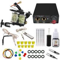 Komplette Rotary Tattoo Guns Kit Sets Maschinenausrüstung für Anfänger Starter Metallic Nadles Tinte Stromversorgung