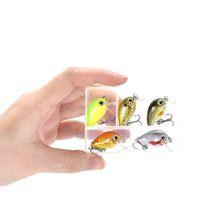 5 шт. / Установить жесткий рыболовный приманки PESCA 3G 18 мм кривошина приманка Япония дизайн мини-дробилкой искусственная приманка для баса щуки окунь форель 196 W2