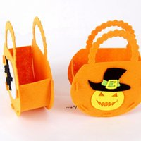 Halloween Decorations Non-woven Tote Bag Party Supplies Ghost Festival Children Gift Bags Wholesale NHD10379