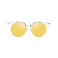 A1 Uanview (Uanview-Frauen Neue Mode Polarisierte Metalle Bunte Hohl-Sonnenbrille WD0874 4M92