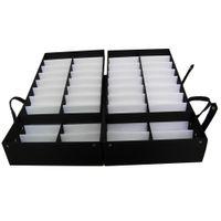 64pcs portáteis de vendas de vendedor de vendedor de vendedor de armazenamento de armazenamento de armazenamento caixa compacta caixa de óculos de óculos de óculos de eyewear