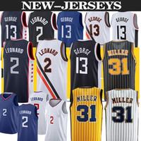 Kawhi 2 Devin Paul 13 George Los Angeleses Basketball Jersey Indiana Reggie 31 Miller basketball jerseys men top S-2XL