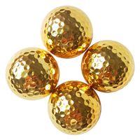 Bola de regalo de doble capa galvanoplastia Gold Golf Clientes