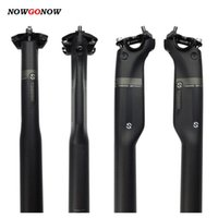 NowGonow Aero Carbono Fiber Bike Seat Ciclismo Seatpost Bicicleta MTB / Road 27.2mm 30.8mm 31.6mm fosco / lustroso 3K 220G