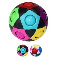 Magic Puzzle Ball Stress Balls Fidget Toys Cube Rainbow Color Matching Brain Teaser Football Game for Kids Adults