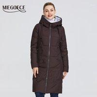 Женские Parkas Miegofce 2021 Зимняя Женская коллекция куртки Среднего длины Теплый слой с капюшоном Европейский стиль на открытом воздухе дает