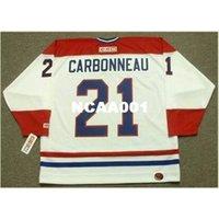001s # 21 парень Carboneau Montreal Canadiens 1993 CCM Home Hockey Jersey или пользовательское имя или номер ретро Джерси