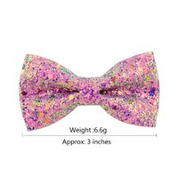 Dog Apparel 100 X Pet Hair Bows Clips Shining Bowknot Grooming Accessories For Small Supplies