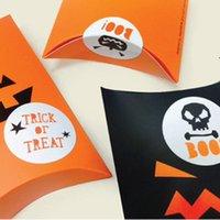 Halloween regalo wrap divertente caramelle cabina di cioccolato scatole di carta festa festival festival regali cuscino cartone bookie box imballaggio decorazione BWD8851