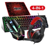 Keyboard Mouse Combos USB Wired Gaming Four-In-One Set Computer Gamer Sets Backlight For PC Laptop