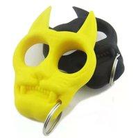 Yeni Kaplan Kafası Anahtarlık Kaplan Kafası Plastik Çelik Parmak Kaplan Plastik Parmak Yüzük Mini Kız Öz Savunma Parmak Yüzük