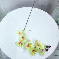 الحرير زهرة الاصطناعي العثة السحلية فراشة السحلية للمنزل الزفاف مهرجان الديكور الخالد phalaenopsis الزهور الاصطناعية HWE5082